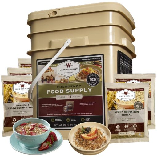 emergency food supplies canada, 120 Serving Breakfast Only, Rapid Survival, Rapid Survival