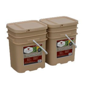 , 240 Serving Vegetable Bucket Combo, Rapid Survival
