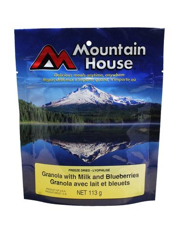 , Granola With Milk and Blueberries – One Serving Entree, Rapid Survival