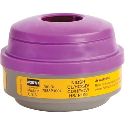 , N Series Combination Gas/Vapour/P100 Filter Respirator Cartridges, Rapid Survival