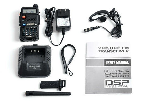 Baofeng UV-5R Box Contents