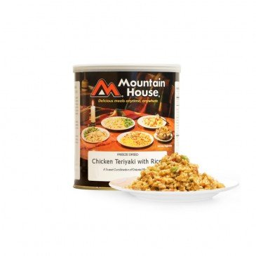 , Mountain House Chicken Teriyaki with Rice #10 Can, Rapid Survival, Rapid Survival