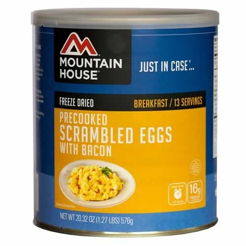 , Mountain House Scrambled Eggs with Bacon #10 Can, Rapid Survival