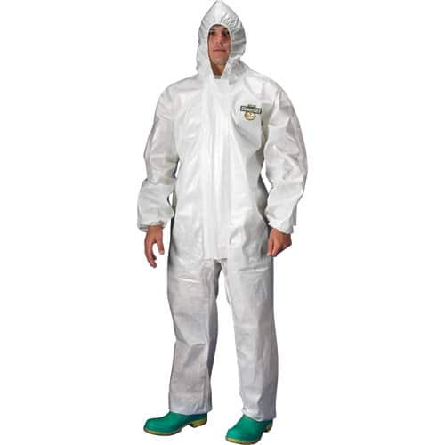 Chemmax 2 providing a barrier against a range of chemical environments and hazards. DuPont™ Chemmax 2 garments offer the wearer a versatile and durable fabric.
