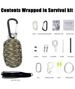 Paracord Survival Kit Camo