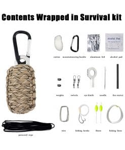 Paracord Survival Kit Brown