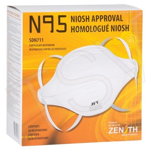 , N95 Mask Particulate Flat Fold Respirator Box of 20, Rapid Survival, Rapid Survival