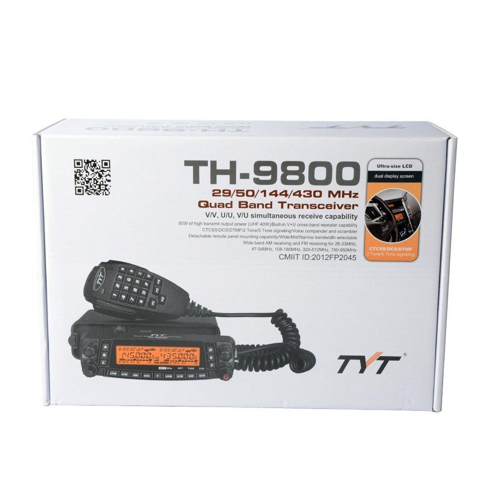 Tyt Th 9800 Plus Version Quad Band 50w Cross Transceiver Radio Remote Control Using Dtmf Receiver