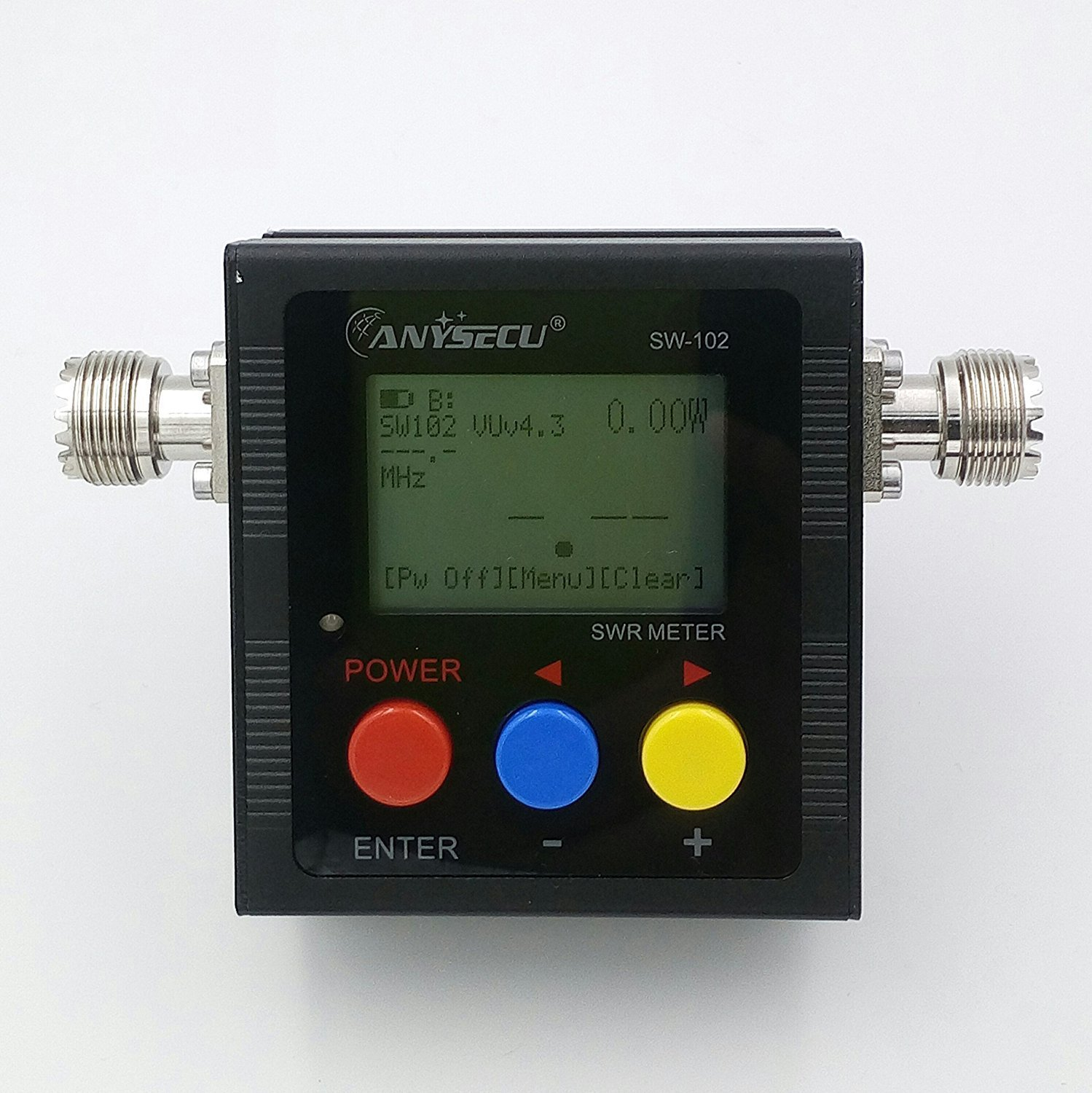 Anysecu SW-102 125-525Mhz Digital VHF/UHF Antenna Power & SWR Meter With  SO239 Connector For Mobile Radio - Rapid Survival